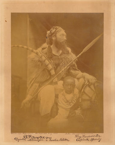 CAMERON (JULIA MARGARET) Déjatch Alámayou & Báshá Félika, King Theodore's Son & Captain Speedy, [July, 1868]