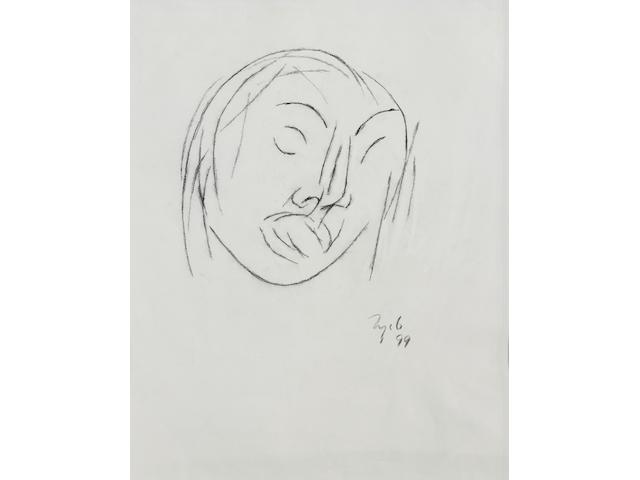 Tyeb Mehta (India, 1929-2009) Untitled (Head) Untitled (Head)