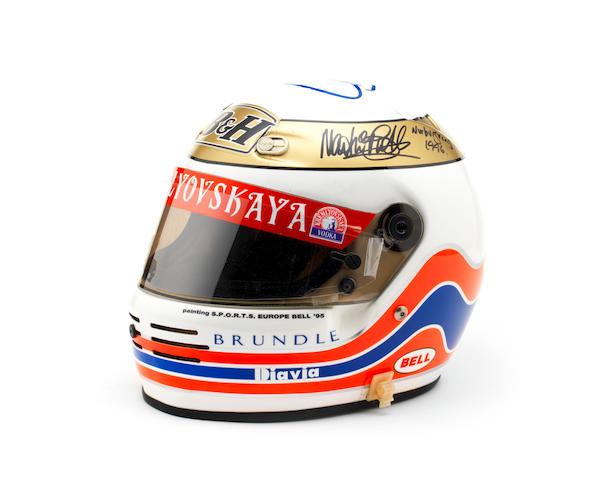 A signed Martin Brundle 1995 Bell helmet,