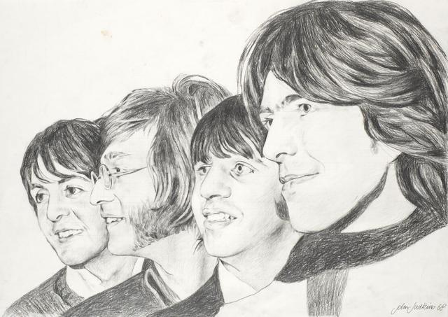 The Beatles: Two John Judkins preparatory poster artworks, both 1968, 2