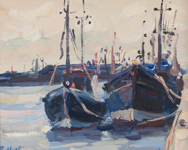 James Fullarton (British, born 1946) Trawlers, Anstruther