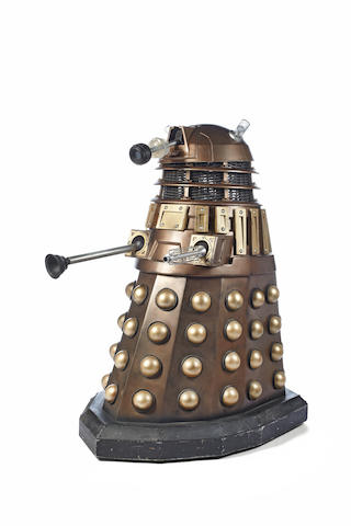 """Doctor Who: A drone Dalek (""""No. 4"""") constructed for use in the BBCtv Doctor Who Episodes 'Bad Wolf' and 'The Parting of the Ways', the revived first series, 2005,"""