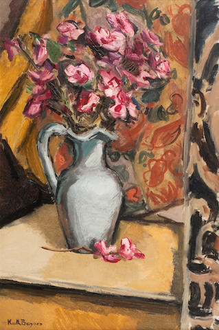 Keith Baynes (British, 1887-1977) Still life with Ewer
