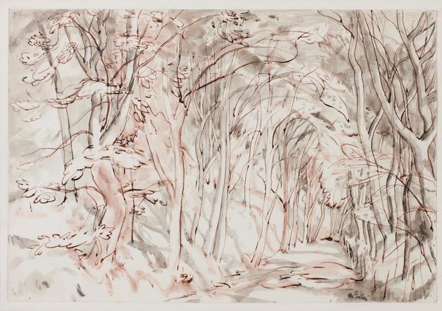Sir William George Gillies (Scottish, 1898-1973) Trees