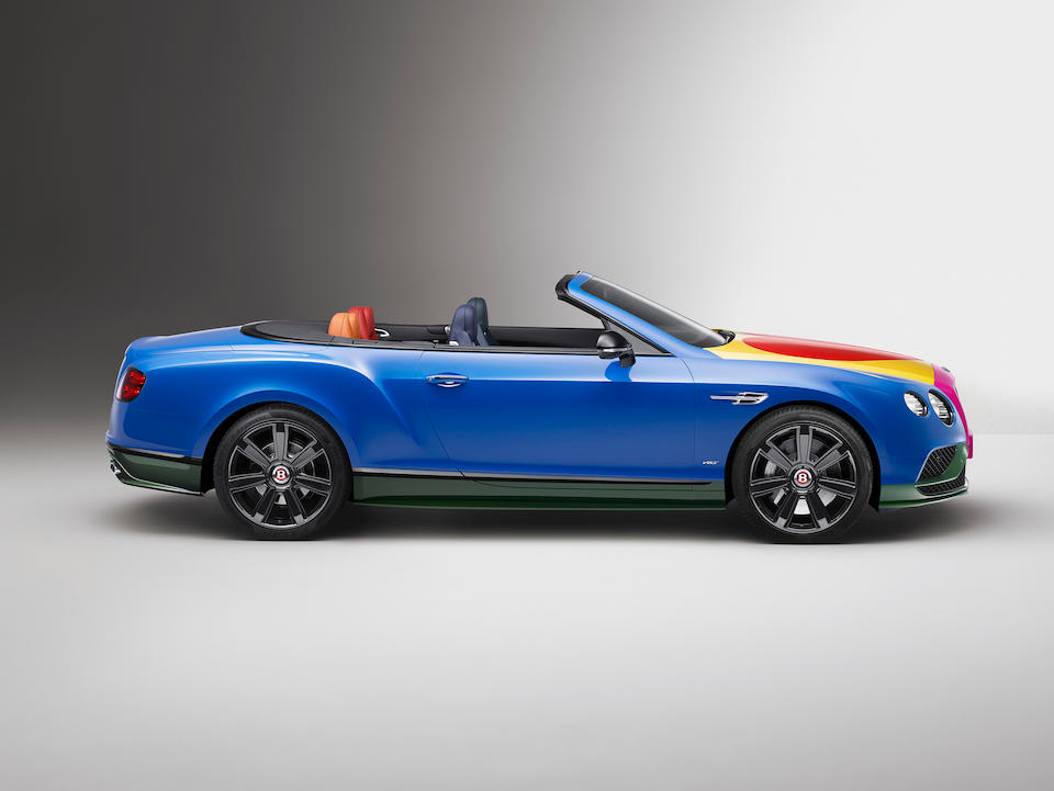 The world's first and only British Pop Art Bentley, this unique Continental GT V8 S Convertible is the result of a collaboration between Bentley Motors and the godfather of British Pop Art, Sir Peter Blake,2016 Bentley Continental GT V8 S Convertible  Chassis no. SCBGE23W6GC058251
