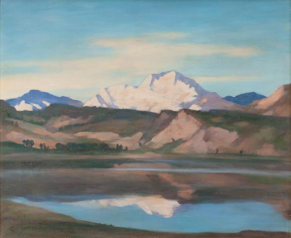 Osmund Pittman (British, 1874-1958) A Scottish Mountain (possibly Ben Lomond)
