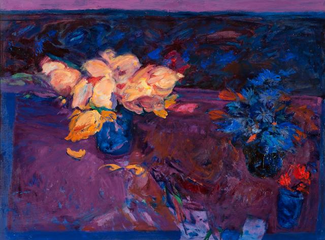 Donald Morison Buyers, RSW (British, 1930-2003) Still life with Roses