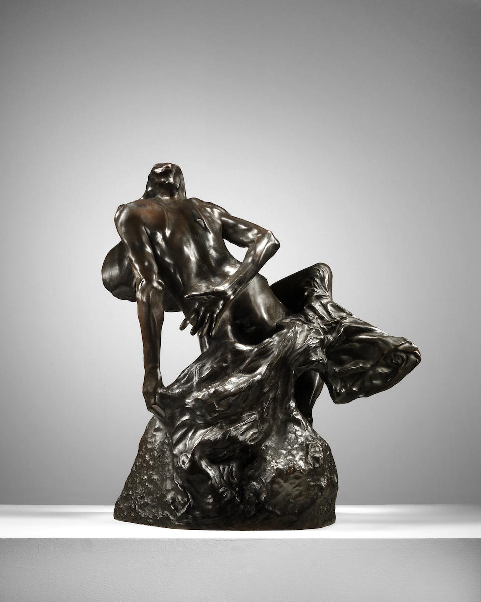Auguste Rodin (French, 1840-1917) La Jeunesse triomphante  52.2 cm (20 9/16 in). high (Conceived in 1894, this bronze version cast between 1906 and 1918)