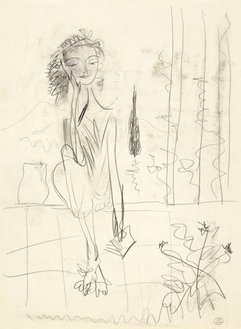 Pablo Picasso (Spanish, 1881-1973) Portrait de Nusch Eluard (Executed circa 1936 - 1937)