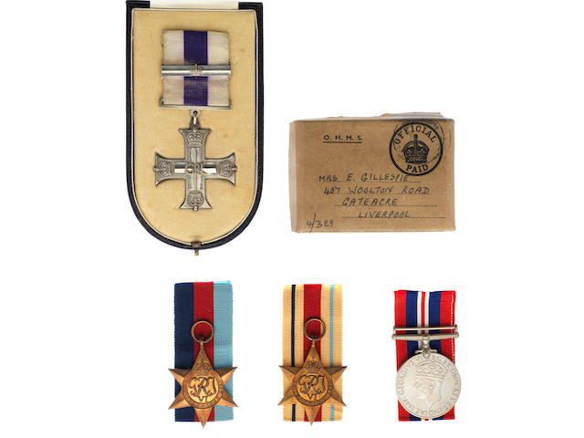A Second World War M.C. and bar to Captain G.C.Gillespie, Royal Artillery,