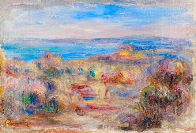 Pierre-Auguste Renoir (French, 1841-1919) Paysage bord de mer (Painted in 1912)