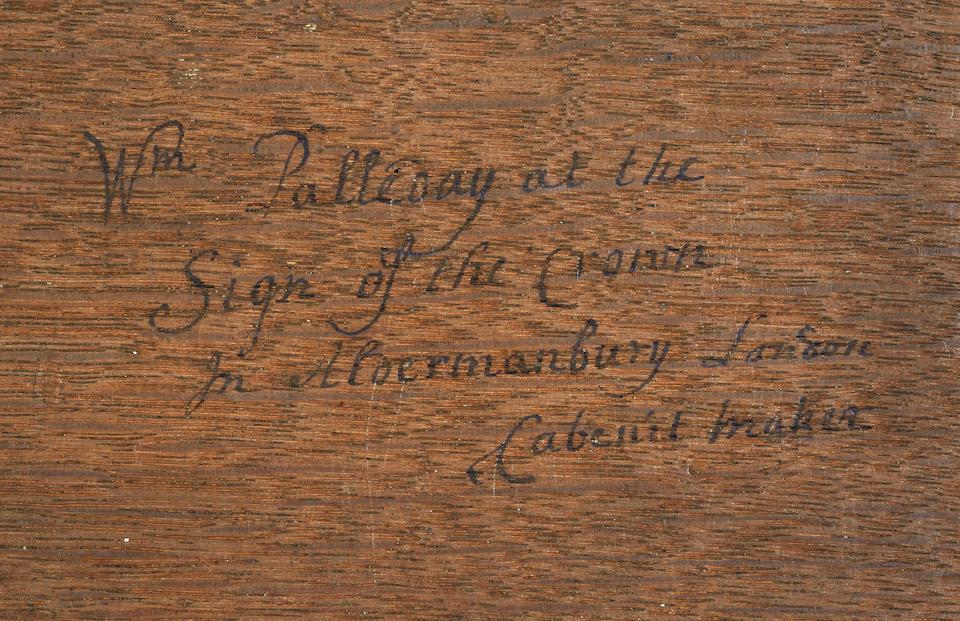 A rare George II joined oak bureau, by William Palleday, London, circa 1730