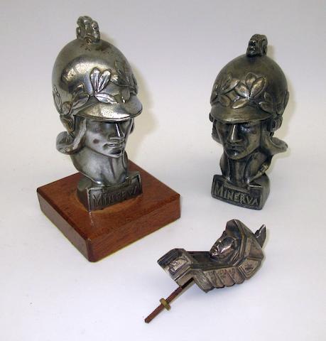 Two Minerva mascots by Pierre de Soete,   ((3))