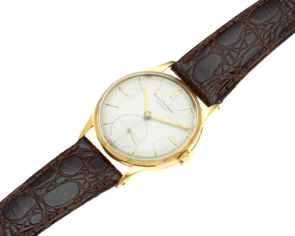 Girard Perregaux. A 14K gold manual wind wristwatch