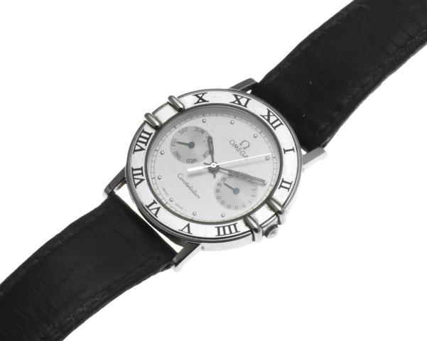 Omega. A stainless steel quartz calendar bracelet watch Model: Constellation