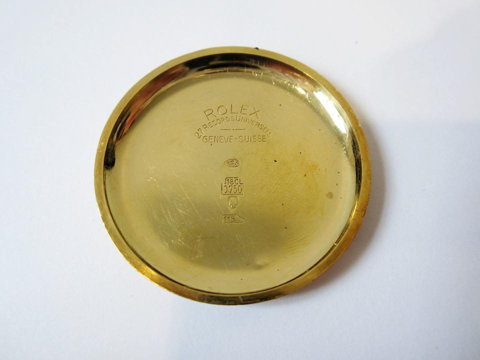 Rolex. A fine 18K gold manual wind chronograph wristwatch Ref:2508, Serial No.247**, Circa 1935