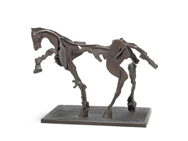William Joseph Kentridge (South African, born 1955) Horse IV 34 x 36.5 x 22cm (13 3/8 x 14 3/8 x 8 11/16in).