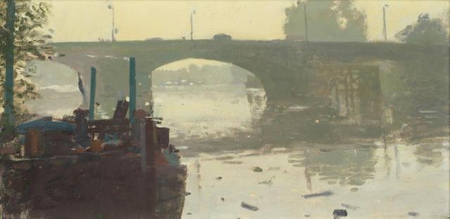 Ken Howard R.A. (British, born 1932) Kew Bridge, early morning
