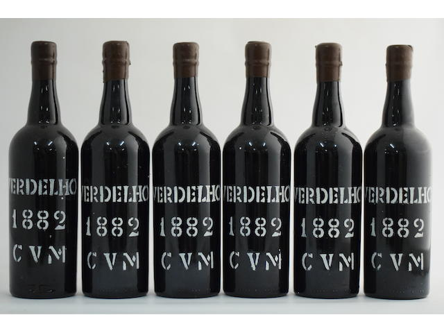 CVM Verdelho 1882, Tasting note: 'Very pale iodine colour with russet centre. Sweet herbal tang. Sweet on the first palate, then swingeing acidity, followed by lemon. Overall good wine'. Patrick Grubb MW (6)