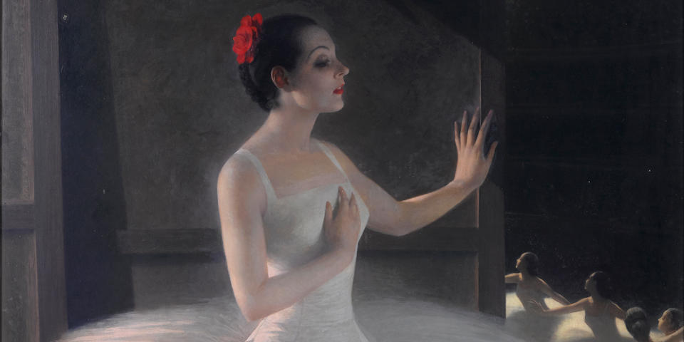 Fedor Ivanovich Zakharov (Russian, 1882-1968) Ballerina 160 x 109.5cm (63 x 43 1/8 in).