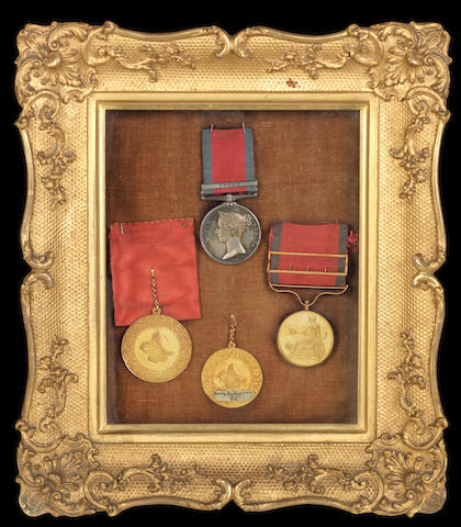 The Small Army Army Gold Medal group of three to Lieutenant General P.Anderson, Colonel of the 78th Highlanders,