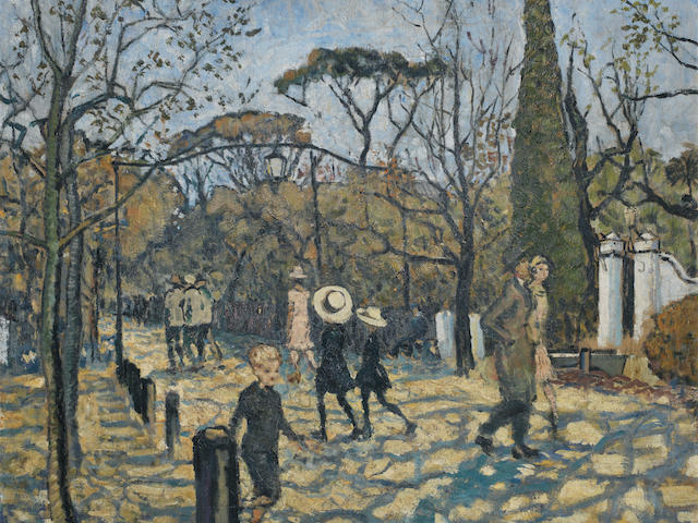 Harry Stratford Caldecott (South African, 1886-1929) Government Avenue, Cape Town (circa 1926)