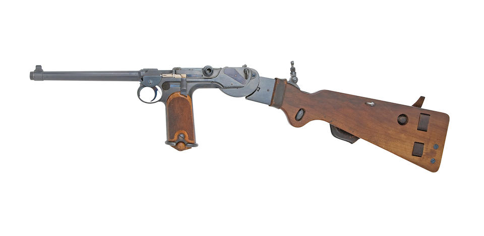 A Very Fine 7.65x25mm Waffenfabrik Loewe C-93 System Borchardt Patent Self-Loading Pistol