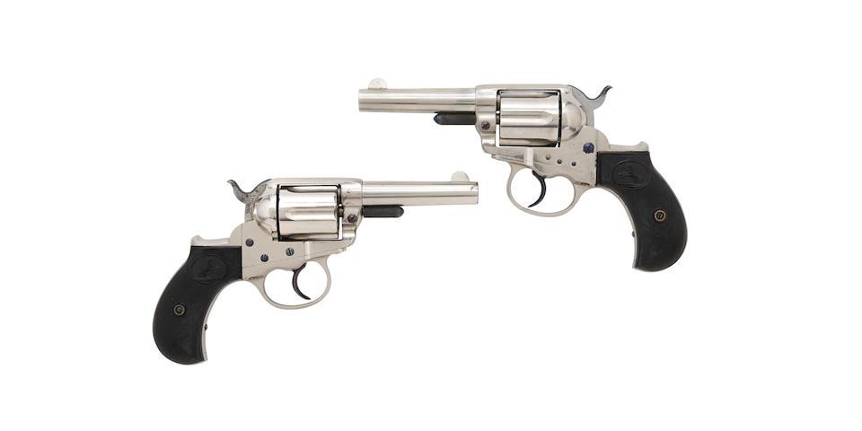 An Extremely Rare Brace Of .38(Long Colt) Colt 1877 Model Lightning (Sheriff's Model) Presentation Revolvers