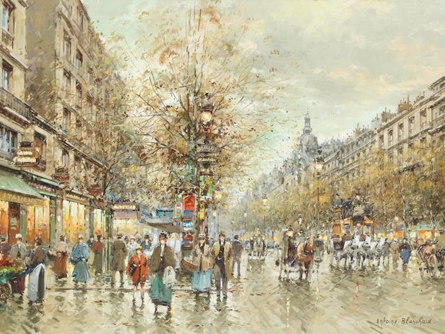 Antoine Blanchard (French, 1910-1988) Boulevard des Italiens
