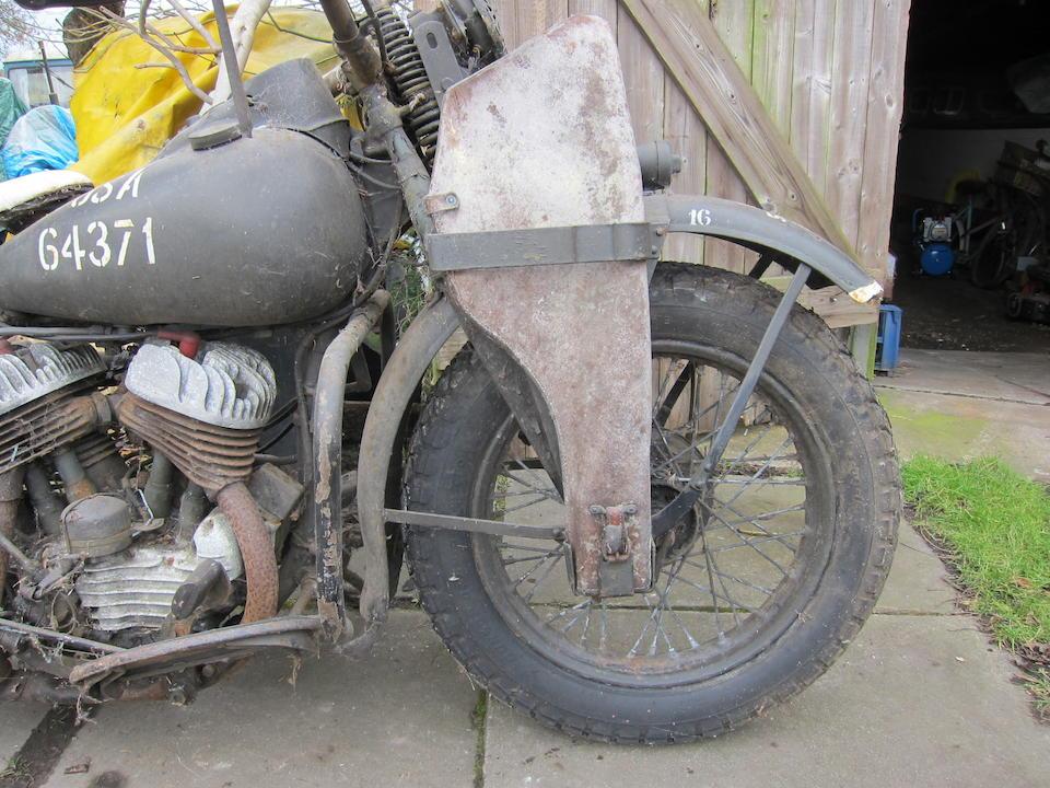 c.1942 Harley-Davidson 739cc WLA Frame no. 9599