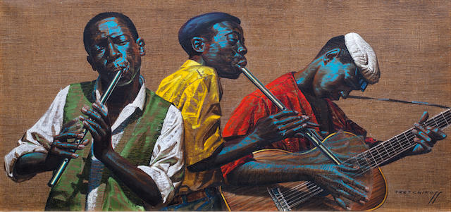 Vladimir Griegorovich Tretchikoff (South African, 1913-2006) Penny Whistlers