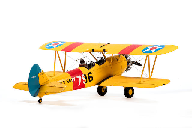 A 1:5 scale model of a US Navy Boeing PT-17 Stearman,