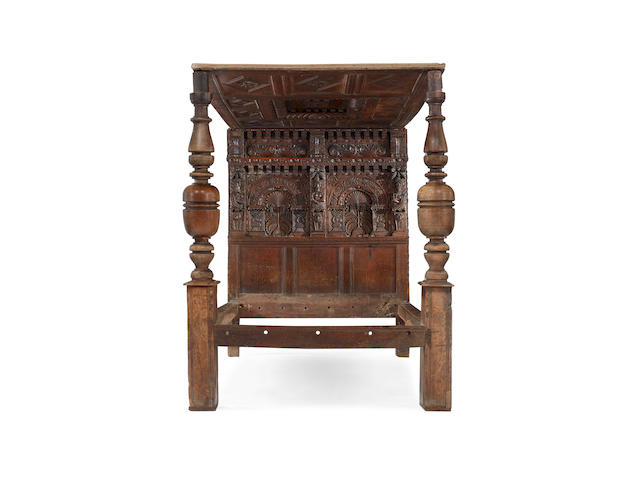 A good Elizabeth I joined oak tester bedstead, Gloucestershire, circa 1600