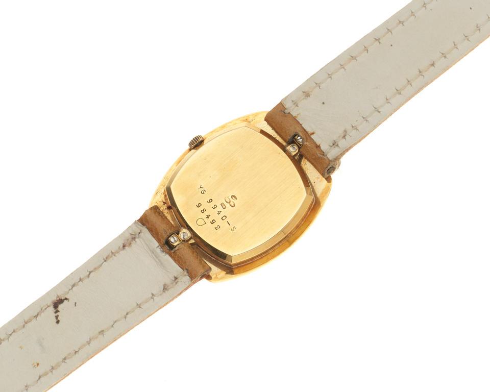 Alexis Barthelay. A lady's 18K gold manual wind wristwatch Circa 1970