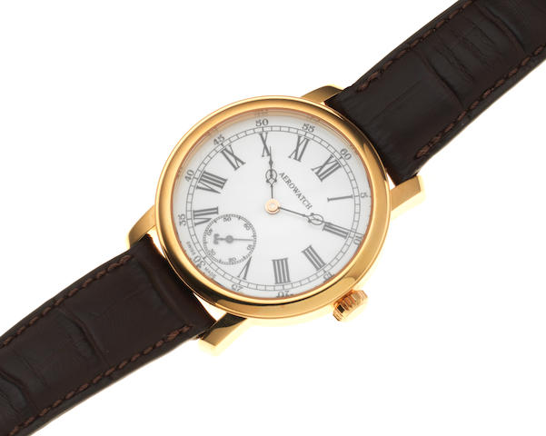 Aerowatch. A gold plated manual wind wristwatch Ref: 931, Sold 12th May 2009