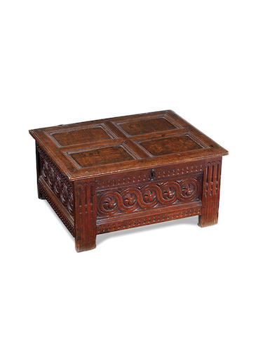 A rare Elizabeth I joined oak document or table-box, South West, circa 1590 - 1600