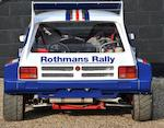 1985 MG Metro 6R4 Group B Rally Car  Chassis no. SAXXRWNP7AD570124