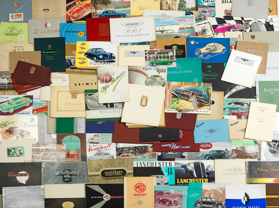 A collection of assorted sales brochures, ((Qty))