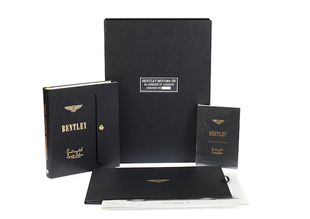CHRISTIAN HUEBER & DAVID A SULZBERGER: BENTLEY CONTINENTAL SPORTS SALOON; A LIMITED 'OWNER'S EDITION', PUBLISHED BY PALAWAN PRESS, 2003, ((6))