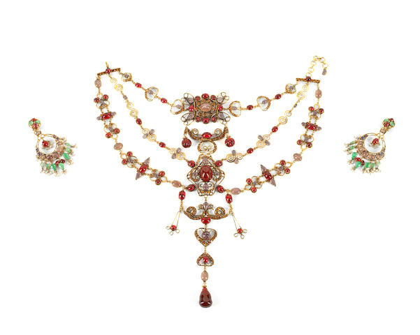 A LARGE IRADJ MOINI INDIAN INSPIRED NECKLACE, (2)