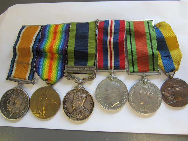 Bonhams : Five to Driver J W Harfield, Royal Army Service Corps