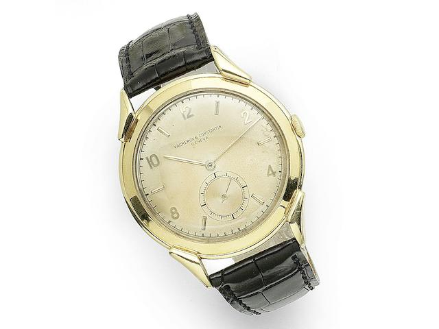 Vacheron & Constantin. An 18K gold manual wind wristwatch Case No.312356, Movement No.478961, Circa 1945