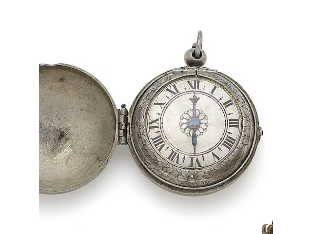 Du Hamel, Paris. A silver key wind pair case pocket watch Circa 1660