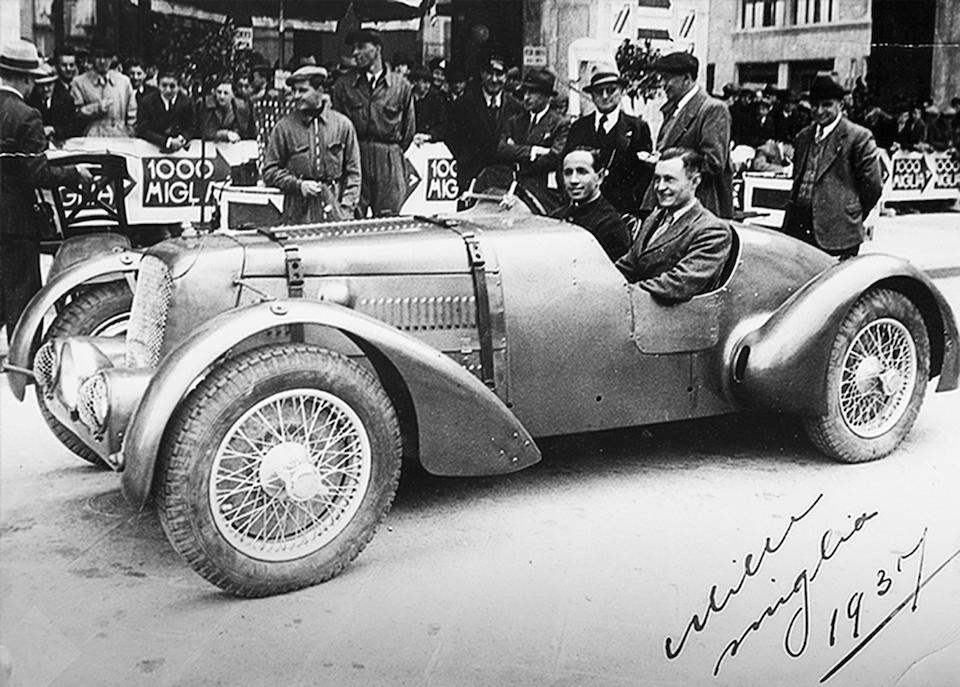 The Ex-Works, Dick Seaman, Eddie Hertzberger, Dudley Folland, John Wyer, Colonel Ronnie Hoare, Jack Fairman,1936 Aston Martin 2-Litre Speed Model 'Red Dragon' Sports-Racing Two-Seater  Chassis no. H6/711/U