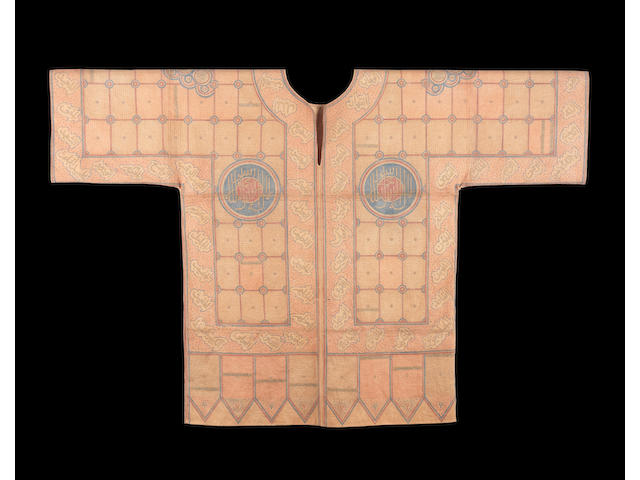 A Sultanate cotton talismanic youth's jama India, late 15th or early 16th Century
