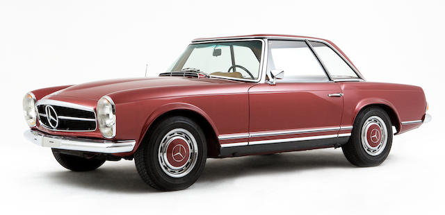 1969 Mercedes-Benz 280SL 5-Speed ZF gearbox convertible with Hardtop  Chassis no. 113044 10 006445 Engine no. 130983 10 002572