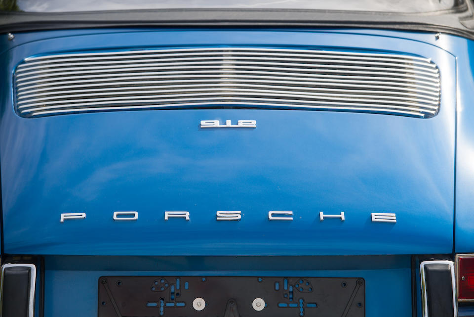 Believed one of only 26 built,1969  Porsche  912 Targa 'Soft Window' LWB   Chassis no. 129010445 Engine no. 4095152