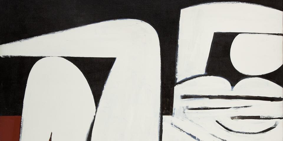 Yiannis Moralis (Greek, 1916-2009) Reclining woman, 1977 123 x 146 cm.
