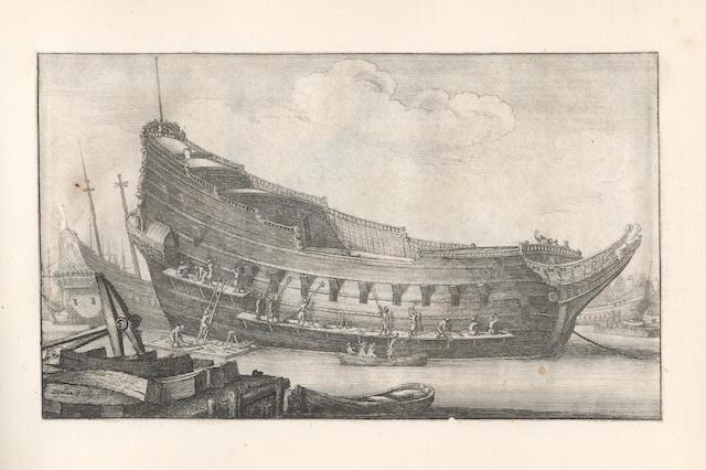 HOLLAR (WENCESLAUS) Navium variæ figuræ et formæ... in diversis locis ad vivum delineatæ & Aqua forti æri insculptæ, [London], 1647