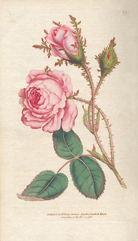 CURTIS (WILLIAM) The Botanical Magazine; or, Flower-garden Displayed, vol. 1-12 bound in 6, W. Curtis, 1793-1798, sold as a periodical not subject to return
